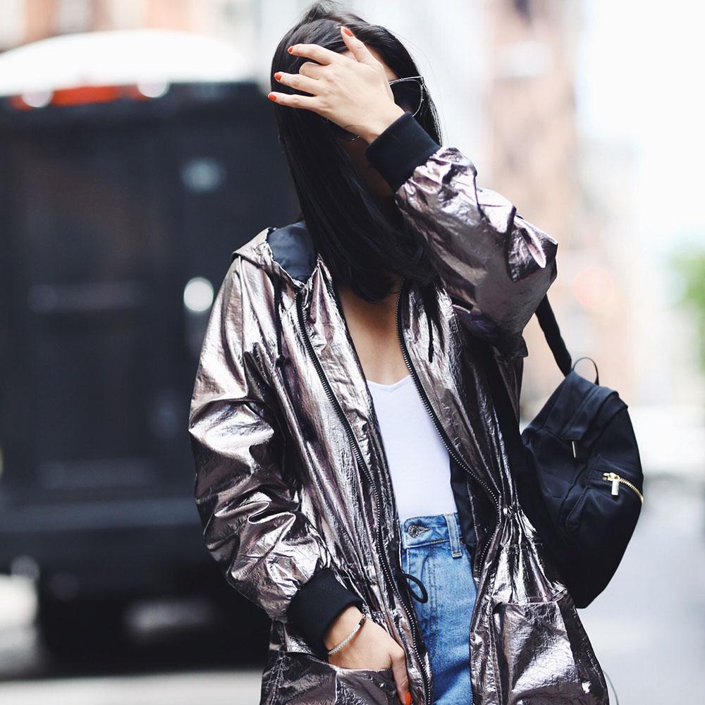 Metallic raincoat